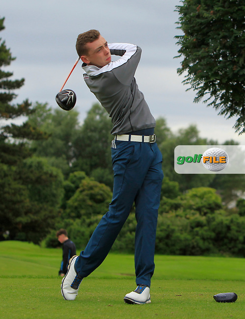 Aaron Ryan (Thurles) on the 15th tee during R2 of the 2016 Connacht U18 Boys Open, played at Galway Golf Club, Galway, Galway, Ireland. 06/07/2016. <br /> Picture: Thos Caffrey | Golffile<br /> <br /> All photos usage must carry mandatory copyright credit   (&copy; Golffile | Thos Caffrey)