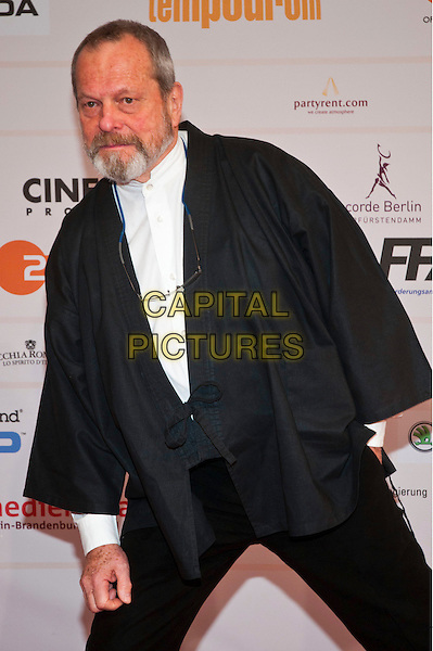 TERRY GILLIAM.The 24th European Film Awards 2011 at Tempodrom, Berlin, Germany. .December 3rd, 2011.half length black jacket cape beard facial hair  leaning .CAP/PPG/NK.©Norbert Kesten/People Picture/Capital Pictures