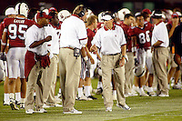 Buddy Teevens during Stanford's 63-26 win over San Jose State on September 14, 2002 at Stanford Stadium.<br />Photo credit mandatory: Gonzalesphoto.com