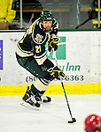 12 November 2010: University of Vermont Catamount forward Jack Downing, a Senior from New Canaan, CT, in action against the Boston College Eagles at Gutterson Fieldhouse in Burlington, Vermont. The Eagles edged out the Cats 3-2 in the first game of their weekend series. Mandatory Credit: Ed Wolfstein Photo