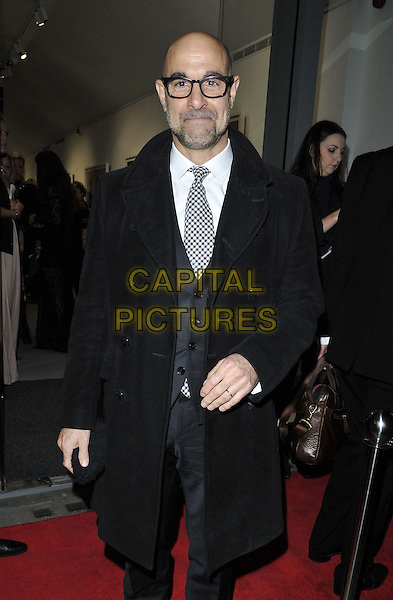 LONDON, ENGLAND - NOVEMBER 27: Stanley Tucci attends the &quot;Mikhail Baryshnikov: Dancing Away&quot; photography collection private view, Contini Art UK, New Bond St., on Thursday November 27, 2014 in London, England, UK. <br /> CAP/CAN<br /> &copy;Can Nguyen/Capital Pictures