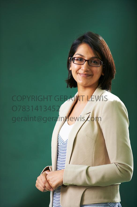 Angela Saini, writer of The Greek Nation  at The Edinburgh International Book Festival 2011.  Credit Geraint Lewis