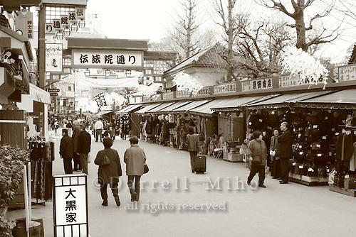 Mar 6, 2006; Tokyo, JPN; Asakusa.Souvenir shops line a side street near the Senso-ji Buddhist temple...Photo credit: Darrell Miho
