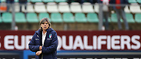 Milena Bartolini coach of Italy during the warm up banner<br /> Castel di Sangro 12-11-2019 Stadio Teofolo Patini <br /> Football UEFA Women's EURO 2021 <br /> Qualifying round - Group B <br /> Italy - Malta<br /> Photo Cesare Purini / Insidefoto