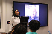 Photographer, Iris Dawn Parker spoke Thursday evening about her experience photographing Nelson Mandela in March of 2013. This event was held at 5733 S. University Ave.
