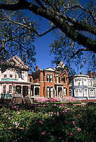 Restored Southern Victorian homes Savannah, Georgia, USA