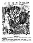 """""""Manners."""" Pedestrian (blandly). """"Could you direct me the nearest way to South Kensington?"""" Cabman (who sees at a glance the party does not """"mean business""""). """"If you wants to be druv there, I'm bound to take yer. Otherwise, I'm not bound to supply general information to the public."""""""