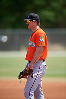 Miami Marlins Colby Lusignan (54) during a Minor League Spring Training game against the St. Louis Cardinals on March 26, 2018 at the Roger Dean Stadium Complex in Jupiter, Florida.  (Mike Janes/Four Seam Images)