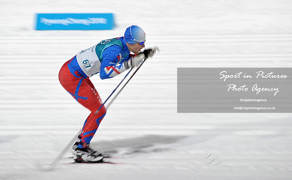 Miroslav Sulek (SVK). Mens sprint classic qualification. Cross country skiing. Alpensia Croos-Country skiing centre. Pyeongchang2018 winter Olympics. Alpensia. Republic of Korea. 13/02/2018. ~ MANDATORY CREDIT Garry Bowden/SIPPA - NO UNAUTHORISED USE - +44 7837 394578