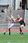 Torrance, CA 05/09/13 - Talia Fiance (Agoura #7) and Lauren Welin (Oak Park #14) in action during the 2013 Los Angeles area Girls Varsity Lacrosse Championship.  Agoura defeated Oak Park 13-7.