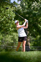 Ally McDonald (USA) watches her tee shot on 16 during Saturday's round 3 of the 2017 KPMG Women's PGA Championship, at Olympia Fields Country Club, Olympia Fields, Illinois. 7/1/2017.<br /> Picture: Golffile | Ken Murray<br /> <br /> <br /> All photo usage must carry mandatory copyright credit (&copy; Golffile | Ken Murray)