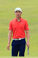 Hoatong Li (CHN) on the 7th during Round 2 of the Aberdeen Standard Investments Scottish Open 2019 at The Renaissance Club, North Berwick, Scotland on Friday 12th July 2019.<br /> Picture:  Thos Caffrey / Golffile<br /> <br /> All photos usage must carry mandatory copyright credit (© Golffile | Thos Caffrey)