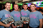 Eugene Brannigan, Andy O Brien, Wayne Hurley and JP Flanagan at the Drogheda Fire Service Charity Calendar Launch in Barroco.<br /> Picture: Shane Maguire / www.newsfile.ie
