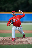 Philadelphia Phillies pitcher Damon Jones (41) delivers a pitch during an Instructional League game against the Toronto Blue Jays on October 7, 2017 at the Englebert Complex in Dunedin, Florida.  (Mike Janes/Four Seam Images)