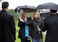 Pictured: Nurses blow bubbles after the burial at Thornhill Cemetery, Cardiff, Wales, UK. Tuesday 28 June 2016<br /> Re: The funeral of Sion, the baby boy found dead in the River Taff in Cardiff has taken place<br /> Generous locals raised nearly &pound;1,400 for the memorial after reading about plans to hold a fitting ceremony for the newborn baby whose body was discovered in Cardiff a year ago.<br /> The funeral took place at the Briwnant Chapel at Thornhill Crematorium, Cardiff. Members of the public are invited to be among the congregation.