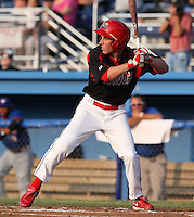 Batavia Muckdogs outfielder Mike O'Neill #11 at bat during a game against the Auburn Doubledays at Dwyer Stadium on June 17, 2011 in Batavia, New York.  Auburn defeated Batavia in the season opener 6-1.  (Mike Janes/Four Seam Images)