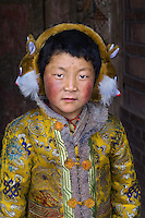 Tibet girl at Lake Manasarvar, Western Tibet, 2004