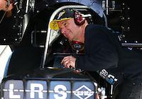 Feb 4, 2016; Chandler, AZ, USA; NHRA funny car team owner Tim Wilkerson during pre season testing at Wild Horse Pass Motorsports Park. Mandatory Credit: Mark J. Rebilas-USA TODAY Sports