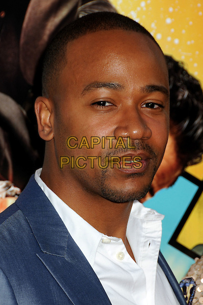 "COLUMBUS SHORT .""The Losers"" Los Angeles Premiere held at Grauman's Chinese Theatre, Hollywood, California, USA, .20th April 2010..portrait headshot blue white shirt beard goatee facial hair .CAP/ADM/BP.©Byron Purvis/AdMedia/Capital Pictures."