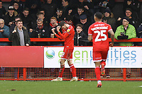Ashley Nadesan of Crawley Town celebrates his goal in the second half during Crawley Town vs Oldham Athletic, Sky Bet EFL League 2 Football at Broadfield Stadium on 7th March 2020