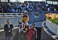 Scenes from Aqueduct Race Track and the Resorts World Casino on Wood Memorial Day in Ozone Park, New York on April 7, 2012