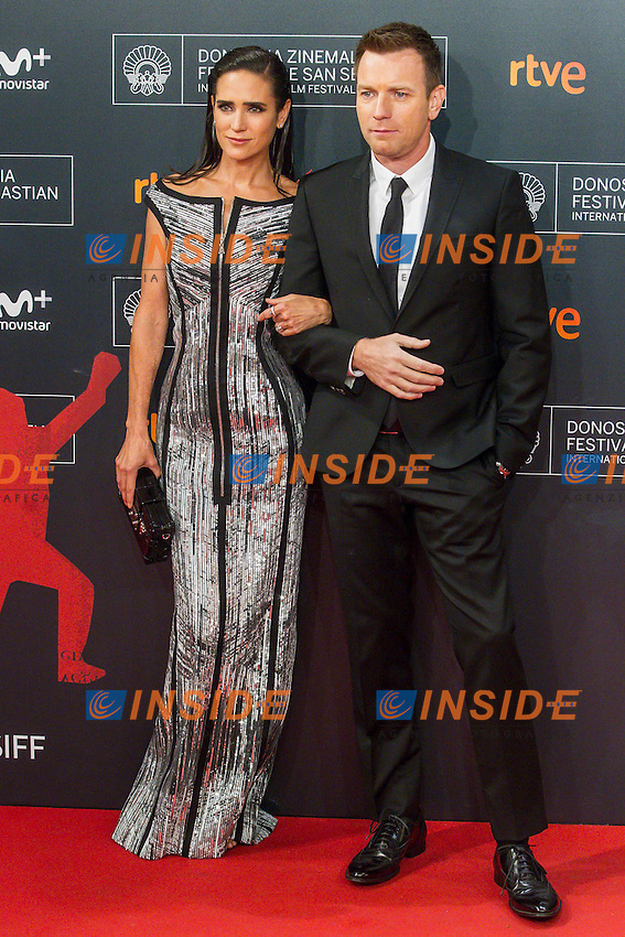 Ewan McGregor and Jennifer Conelly attends the American Pastoral premiere during the 64th San Sebastian Film Festival at Kursal in San Sebastian, Spain.<br /> San Sebastian Film Festival 2016 <br /> Foto Panoramic / Insidefoto <br /> ITALY ONLY