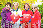 Pictured at the Killarney Strutters walk in the Killarney Desmene in aid of the Irish Heart Foundation on Thursday were Ann McCarthy, Josephine Lawlor, Mairead McCarthy, leader, and Claudia White. ..........................................................................