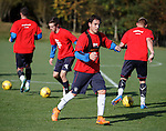 Rangers trialist Gai Assulin at training today