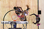 DALLAS, TX - APRIL 2: A'ja Wilson #22 of the South Carolina Gamecocks and Teaira McCowan #15 of the Mississippi State Lady Bulldogs fight for the rebound during the 2017 Women's Final Four at American Airlines Center on April 2, 2017 in Dallas, Texas. (Photo by Justin Tafoya/NCAA Photos via Getty Images)