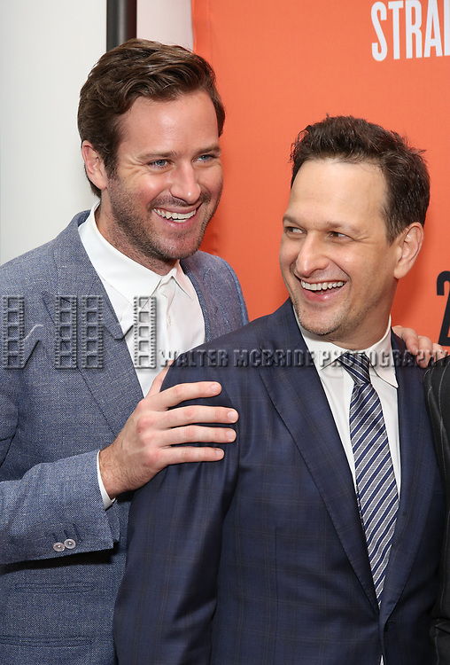 Armie Hammer and Josh Charles attend the Broadway Opening Night after party for 'Straight White Men' Broadway Opening Night at DaDong on July 23, 2018 in New York City
