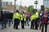 Police during West Ham United vs Everton, Premier League Football at The London Stadium on 13th May 2018