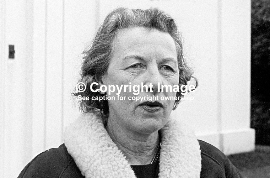 Mrs K. A. Y. Forde, candidate, Ulster Unionist candidate, North Down, in N Ireland Parliament General Election November 1965. October, 1965. 196510000018<br />
