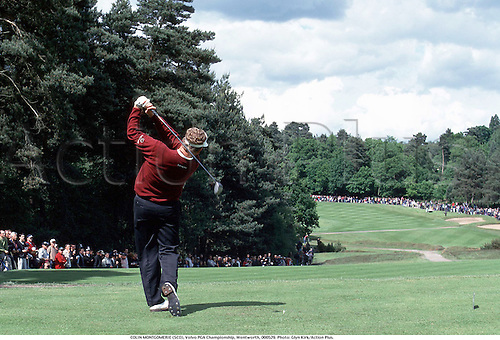 COLIN MONTGOMERIE (SCO), Volvo PGA Championship, Wentworth, 000529. Photo: Glyn Kirk/Action Plus.......2000..golf..golfer golfers..fairway..rear..backshot..behind