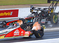 May 6, 2017; Commerce, GA, USA; NHRA top fuel driver Doug Kalitta during qualifying for the Southern Nationals at Atlanta Dragway. Mandatory Credit: Mark J. Rebilas-USA TODAY Sports