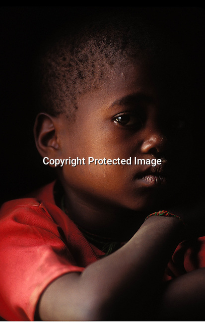 PPCHILD50309.People. Children. Kwazulu-Natal. Portrait of a young boy..99..©Per-Anders Pettersson/iAfrika Photos