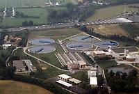 - Lombardia, vista aerea di un impianto di depurazione delle acque reflue<br /> <br /> - Lombardy, aerial view of a waste water treatment plant