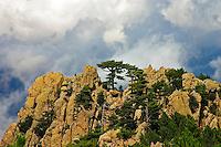 Corsica. Punta Aracale and Aiguilles de Bavella.  France. Corse.