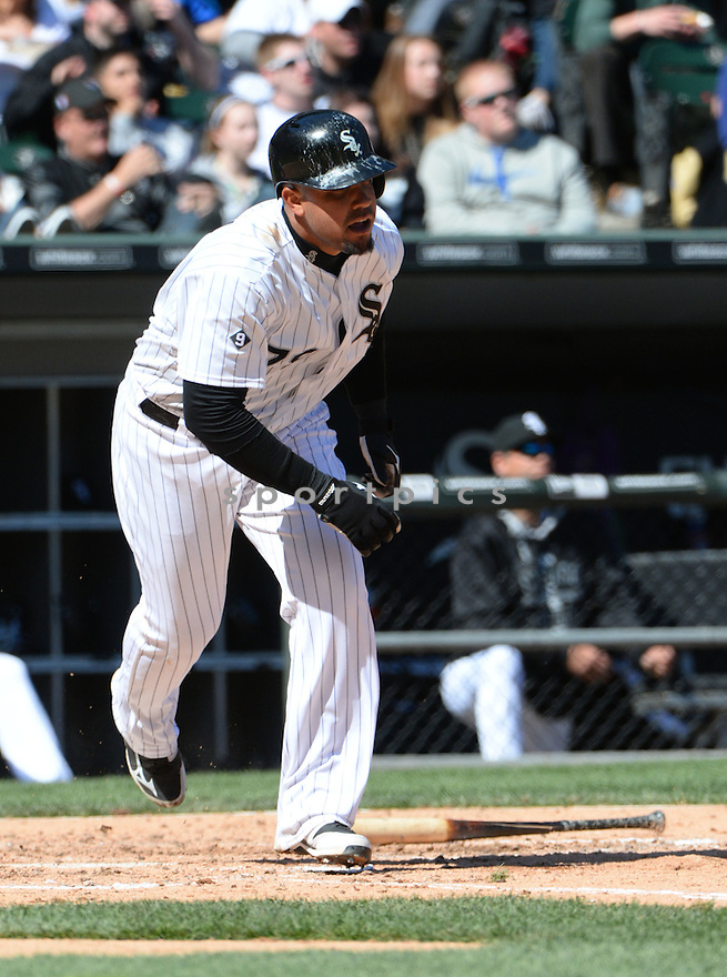 Chicago White Sox Jose Abreu (79) during a game against the Kansas City Royals on April 26, 2015 at US Cellular Field in Chicago, IL. The White Sox beat the Royals 5-3.