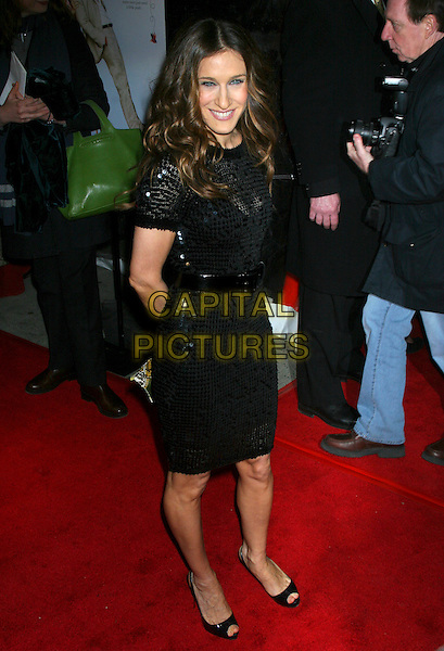 "SARAH JESSICA PARKER.World Premiere Of ""Failure To Launch"" at the Clearview Chealsea West Theatre, New York NY, USA..March 8th, 2006.Ref: IW.full length black sequins dress belt.www.capitalpictures.com.sales@capitalpictures.com.©Capital Pictures"
