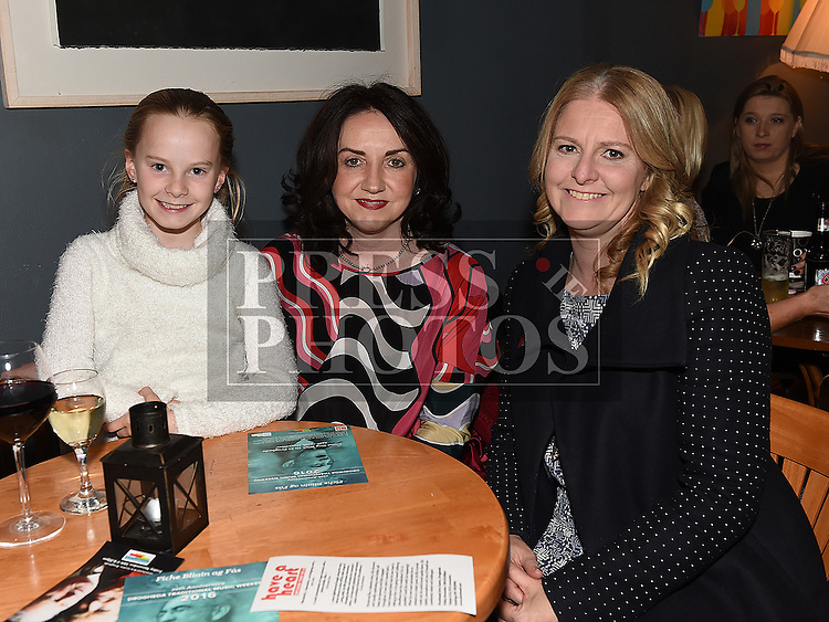Isabelle and Anita O'Toole and Claire Murphy at Mornington Gospel Choir 20th anniversary show in the Droichead Arts Centre. Photo:Colin Bell/pressphotos.ie