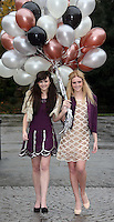 03/11/'10***NO REPRODUCTION FEE PICTURES*** Models, Amber Rowan (blonde Hair) and Hannah May pictured wearing party dresses from AWear's new Christmas Collection this morning. The Irish brand celebrates 25 years in business this year, and will be hosting a massive birthday party next Wednesday 10th November where Irish MTV presenter Laura Whitmore will be playing her first Irish DJ gig. Details on how to get tickets are on www.awear.com. Amber wears a Pink Disc Dress @EUR60 and a purple blazer. Hannah wears a purple flapper dress @ EUR60 and a beige fur collar jacket @ EUR50 ....Picture Colin Keegan, Collins, Dublin.