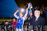 Templenoe captain Tadhg Morley lifts the cup after defeating  Coolmeen in the Munster Junior Championship final in Mallow on Sunday