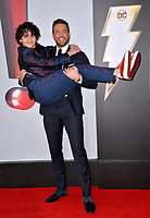 LOS ANGELES, CA. March 28, 2019: Zachary Levi & Jack Dylan Grazer at the world premiere of Shazam! at the TCL Chinese Theatre.<br /> Picture: Paul Smith/Featureflash