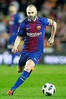 FC Barcelona's Andres Iniesta during Spanish King's Cup Semi Final 2nd match. February 8,2018. (ALTERPHOTOS/Acero)