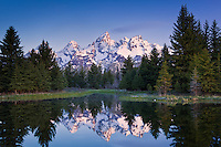 Early morning at Schwabacher Landing, Grand Tetons National Park, Wyoming