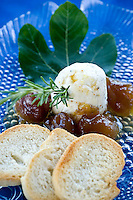 Rosemary chevre with fig preserves, at Cafe Atlantic on Ocracoke.