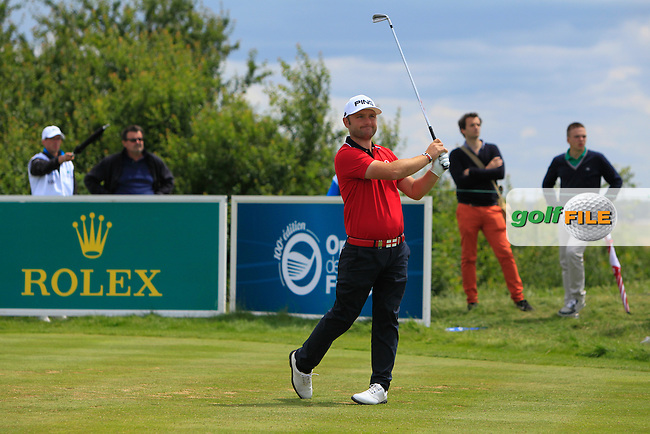 Andy Sullivan (ENG) on the 8th tee during Round 3 of the 100th Open de France, played at Le Golf National, Guyancourt, Paris, France. 02/07/2016. <br /> Picture: Thos Caffrey | Golffile<br /> <br /> All photos usage must carry mandatory copyright credit   (&copy; Golffile | Thos Caffrey)