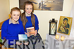 REFLECTION: Students Erin Kehoe and Isabel Moore in the new reflection space at Presentation Secondary School, Milltown which was created as part of Catholic Schools Week.