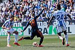 CD Leganes's Kenneth Josiah Omeruo and Valencia CF' Rodrigo Moreno during La Liga match, Round 25 between CD Leganes and Valencia CF at Butarque Stadium in Leganes, Spain. February 24, 2019. (ALTERPHOTOS/A. Perez Meca)