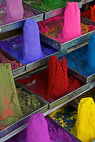 Color Powder in the Market of Pushkar, the locals buy the Color Powder to color their Cows and other Animals during special occassions and festivals